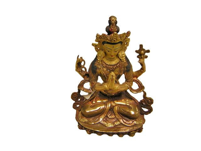 Chenringe made of Bronze with gold plated face from Nepal