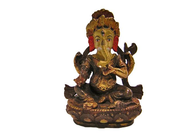 Ganesh made of Bronze from Nepal(95/120/250) 4 inches
